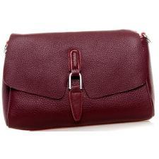 Женская кожаная сумка-мессенджер 8778P Бордовый