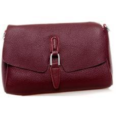 Стильная женская кожаная сумка-мессенджер 8778P Бордовый