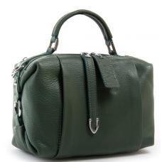 Женская сумка зелёная кожаная 8762-9P