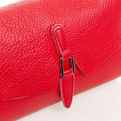 Красный кожаный клатч для женщин 8778P