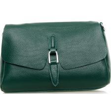 Кожаный женский клатч через плечо 8778P Зелёный