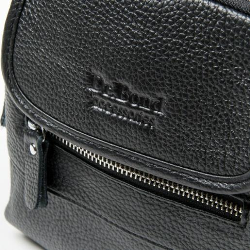 Мужская кожаная  сумка POD201-48 Черный