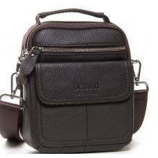 Мужская кожаная сумка барсетка коричневая 208PO-11-1