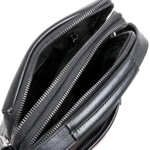 Сумка мужская кожаная через плечо POD36-91 Черный