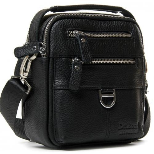 Мужская сумка кожаная POD201-10 Черный
