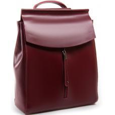 Женский рюкзак из натуральной кожи 0632P красный