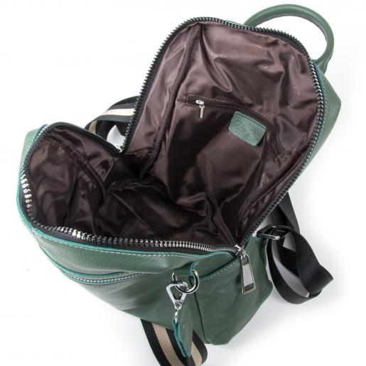 Женский кожаный рюкзак 8187-9P Зелёный