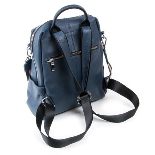 Кожаный женский рюкзак 8187-9P Синий