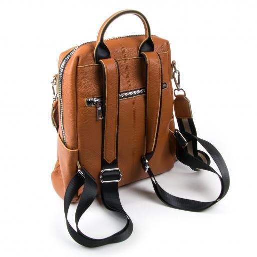 Рюкзак кожаный женский 8187-9P Рыжий