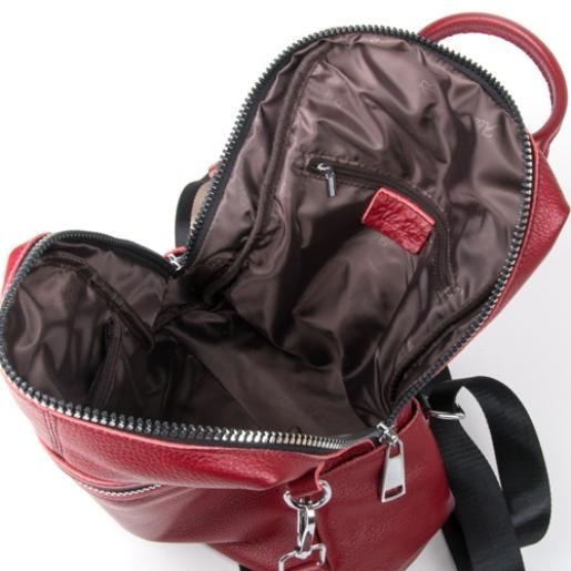 Женский кожаный рюкзак 7687P-4 bordo