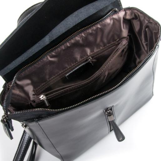 Кожаный женский рюкзак 32DP06 Черный