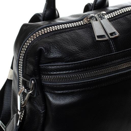 Женский кожаный рюкзак 7687P-1 черный