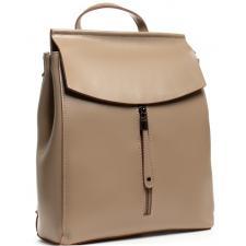Женский бежевый кожаный рюкзак 3206DP