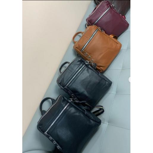 Женский кожаный рюкзак 7687P-2 light-grey