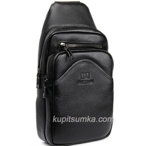 Городской кожаный рюкзак для мужчин Чёрный
