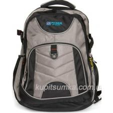 Городской рюкзак с двумя отделениями цвет чёрно-серый
