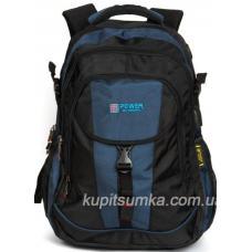 Городской рюкзак с двумя отделениями чёрно-синий