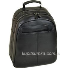 Стильный мужской кожаный рюкзак Чёрный