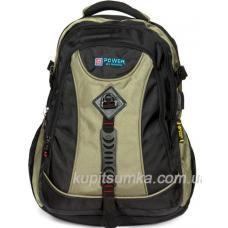 Мужской рюкзак черно-зеленый 85П19-76