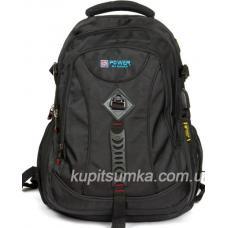 Стильный рюкзак с двумя отделениями чёрный