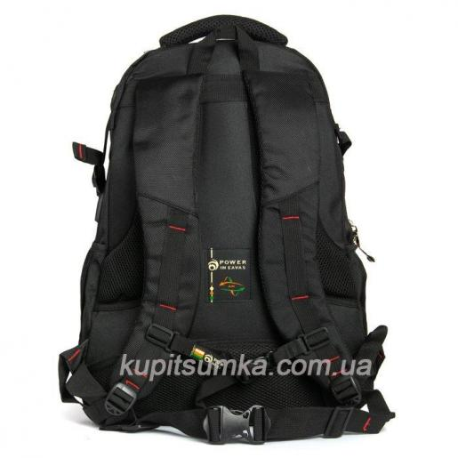 Мужской рюкзак с двумя отделениями чёрный