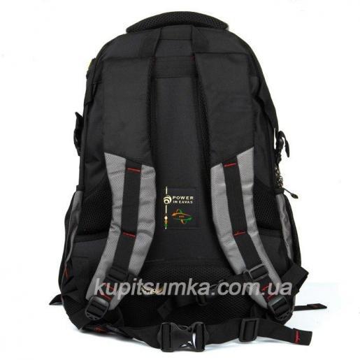 Мужской рюкзак с двумя отделениями чёрно-серый