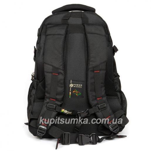 Городской рюкзак с двумя отделениями цвет чёрный