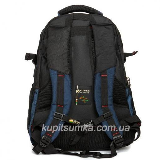 Городской рюкзак с двумя отделениями цвет чёрно-синий