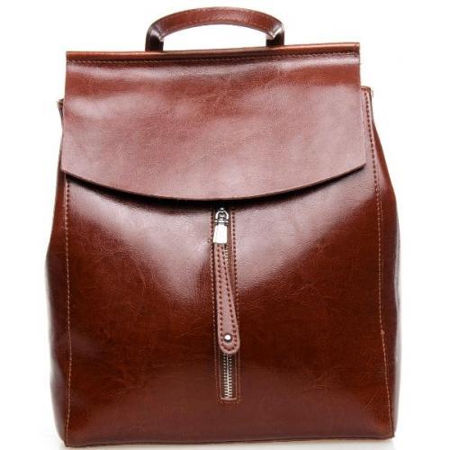 Кожаный рюкзак женский 0632P Коричневый