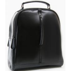 Женский кожаный рюкзак черный P8694-2