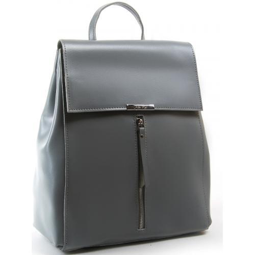 Городской кожаный рюкзак cерый P373-1
