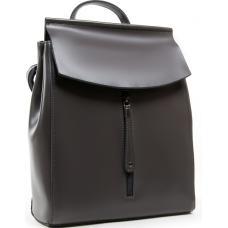 Кожаный городской рюкзак серый 0632P