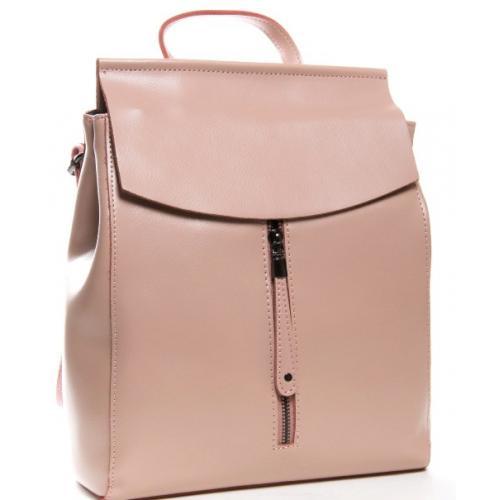 Женский кожаный рюкзак розовый 32PP06-56