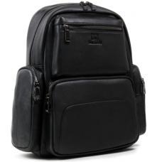 Мужской кожаный рюкзак черный 16P50-3RO