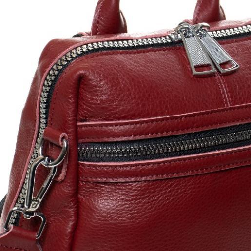 Женский городской кожаный рюкзак 8187-9P Бордовый