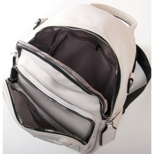 Женская сумка-рюкзак из кожзаменителя PP2701-2 white