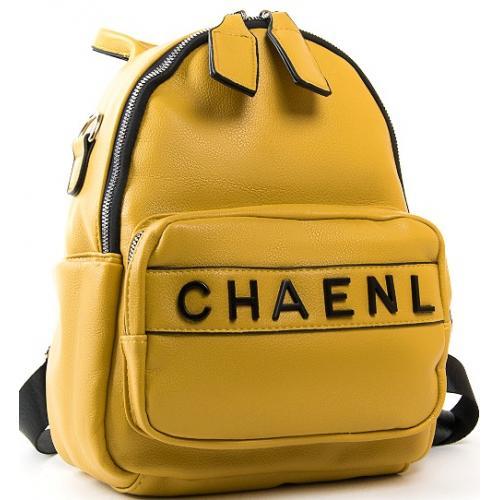 Женская сумка-рюкзак из кожзаменителя PP2701-1 yellow