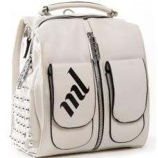 Женская сумка-рюкзак из эко кожи PP6492-6 L-beige
