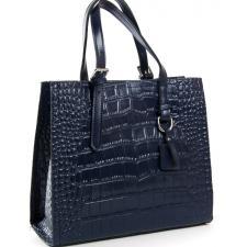 Женская кожаная сумка Kroko 8800POD Синий
