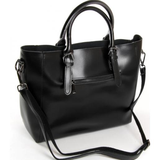 Женская кожаная сумка 8223PP-1black