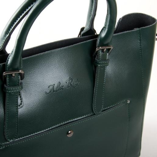 Кожаная женская сумка 8223PP-2green