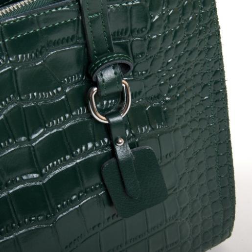 Кожаная женская сумка Kroko 3-8800POD Зеленый