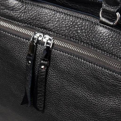Женская сумка из кожи 8782P Графитовый