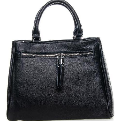 Женская деловая кожаная сумка 8782P Чёрный