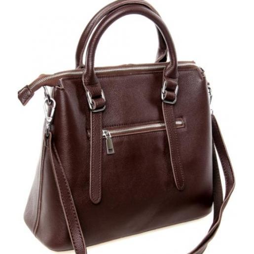 Женская кожаная сумка 125P brown
