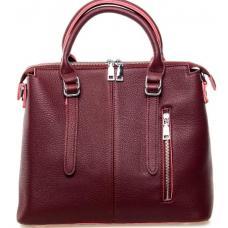 Женская кожаная сумка 7125P Бордовый