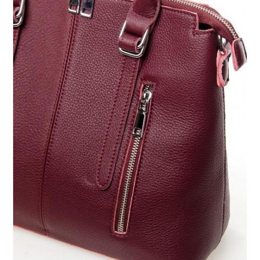Женская кожаная сумка 7125P-1 burgundy