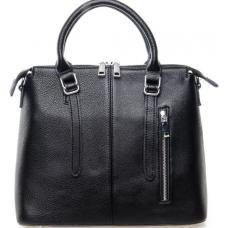 Черная женская кожаная сумка 7125P
