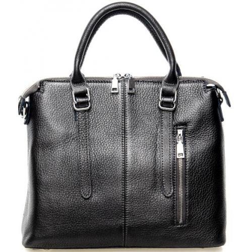 Женская элегантная кожаная сумка 7125P Графитовый