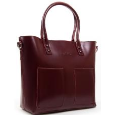 Кожаная женская сумка 198P-2 wine-red